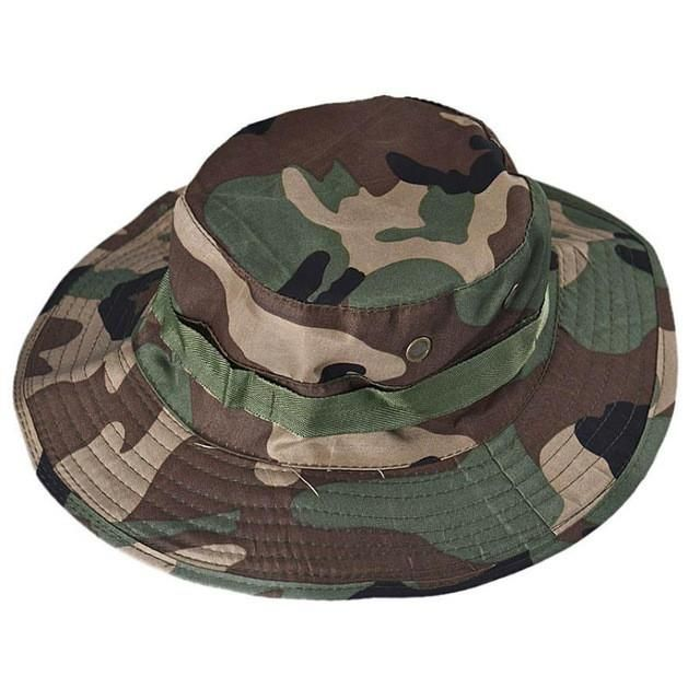 Hiking Caps Man Bucket Hat Hunting Fishing Outdoor Wide Cap Military Unisex ce189b2163f5