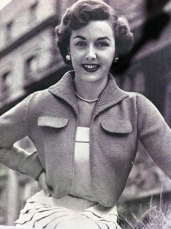 50s Cropped Jacket Australian vintage knitting pattern by VanessaLovesVintage, $1.80