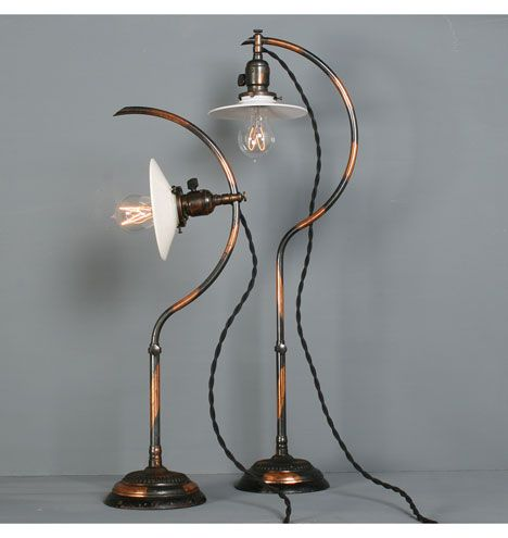 Rare Pair Of No 22 Faries Adjustable Desk Lamps C1908