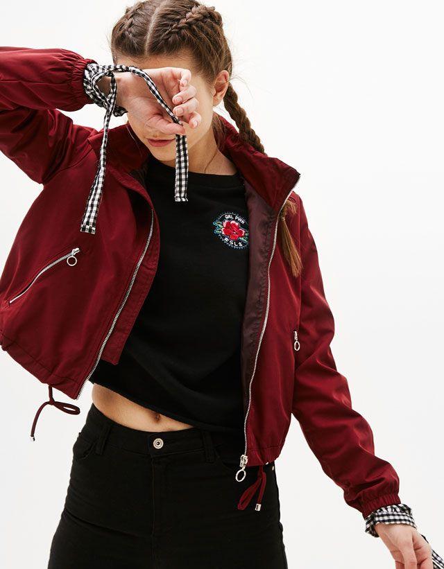 vestes pour femme bershka printemps t 2017 vetment que je veux pinterest vestes pour. Black Bedroom Furniture Sets. Home Design Ideas