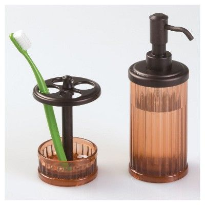 alston bath accessory set amber bronze interdesign products rh pinterest at