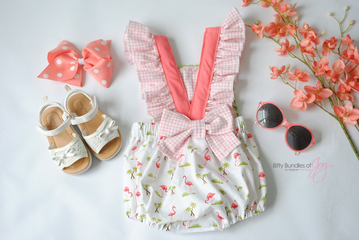Baby Tropical Bubble Romper - \