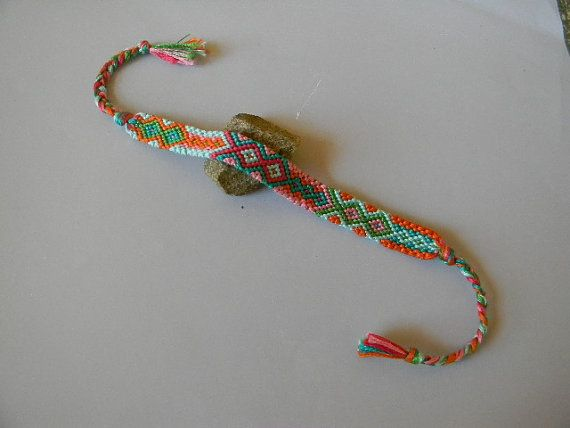 This is super pretty!  I want one Tropical Diamond Patterned Adjustable Bracelet by MacrameAmour, $7.00