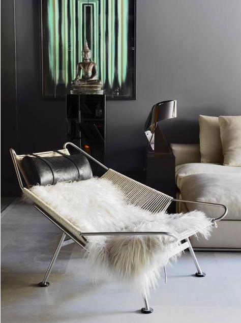 Hans Vegner Flag Halyard Chair Interior Furniture Design Eclectic Interior