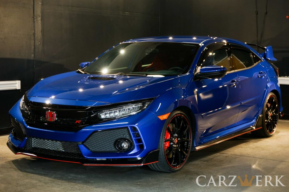 2017 Honda Civic Type R Aegean Blue Metallic Championship White Enhancement And Protection Project Car Honda Civic Type R Honda Civic Car Honda Civic Sport