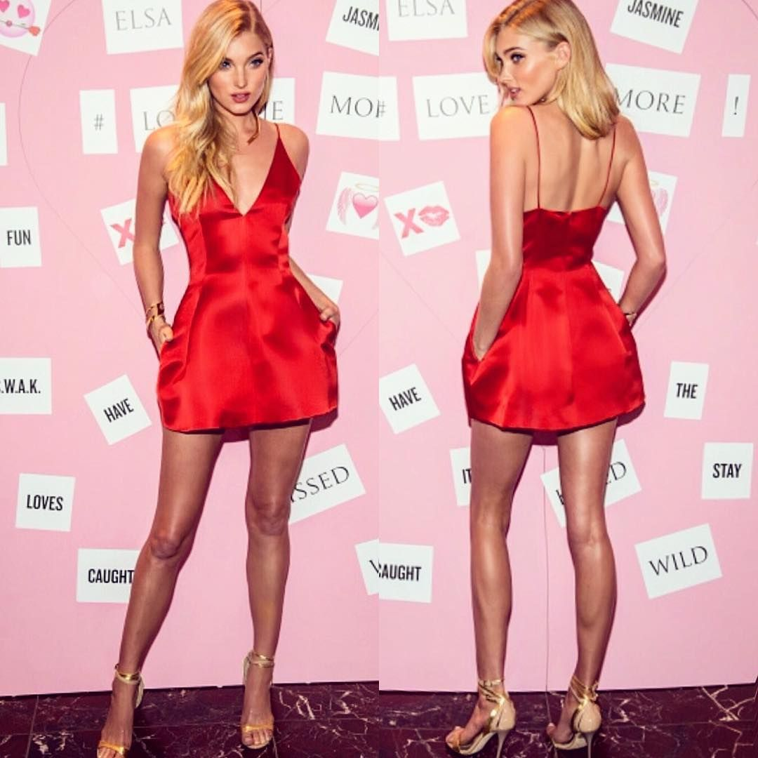 Elsa Hosk in Dior dress and Balmain shoes for a Victorias Secret ...
