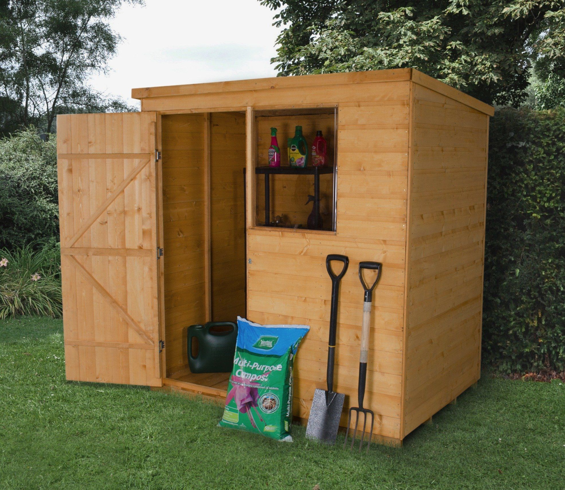 6 x 4 shiplap dip treated pent shed - Garden Sheds 6ft By 4ft