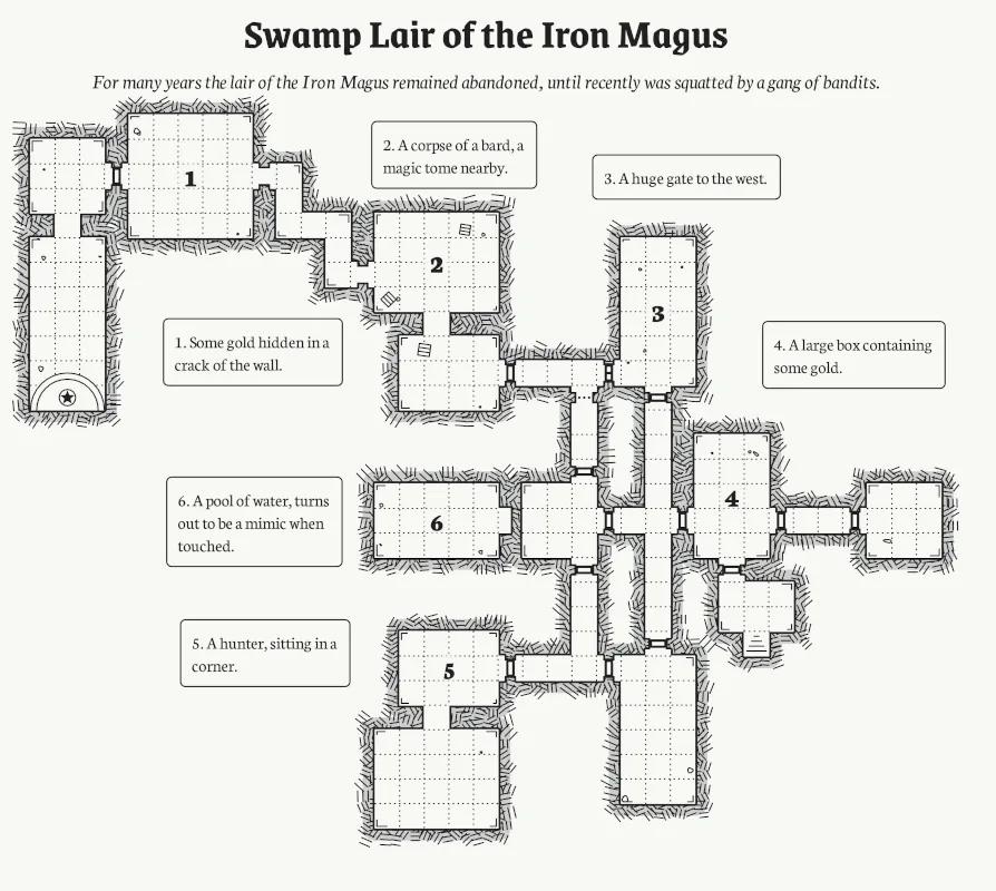 Procedural onepage dungeon generator / Boing Boing