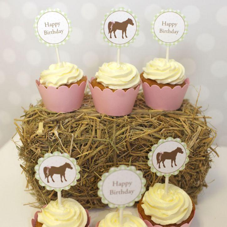 Pony Cupcake Einstecker