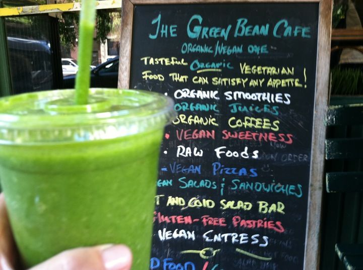 The Green Bean Cafe Juice Bar Green Beans Organic Smoothies Raw Food Recipes