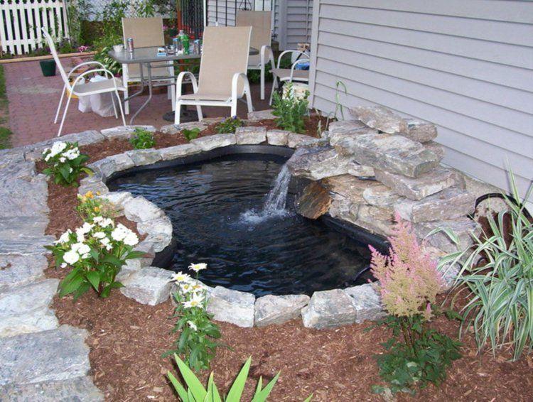 Fliessendes Wasser Gartengestaltung Ideen Mit Teich | Gartenteich