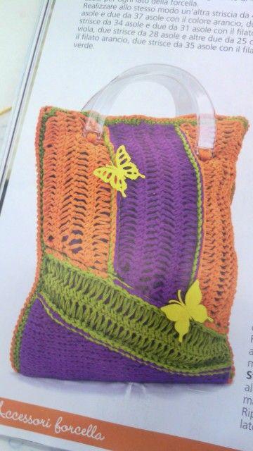 Hairpin lace crochet.....FANTASIANDO bag | bolsos - monederos ...