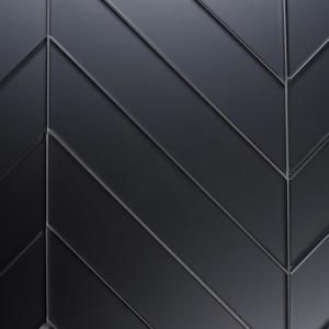 Abolos Reflections Graphite Blue Deco 4 In X 12 In