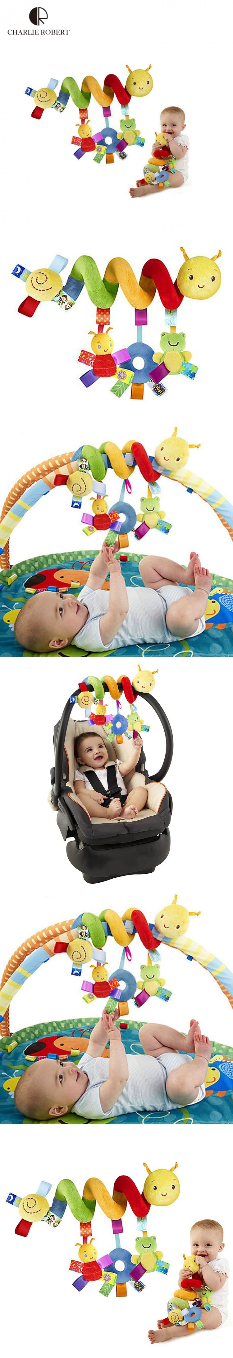 Hot plush baby toy educational newborn mobile baby rattles toys for kids colorful caterpillar baby stroller toys