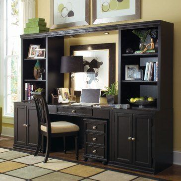 home office wall unit. Camden Black Home Office Wall Unit - American Drew 919-595 By Drew.