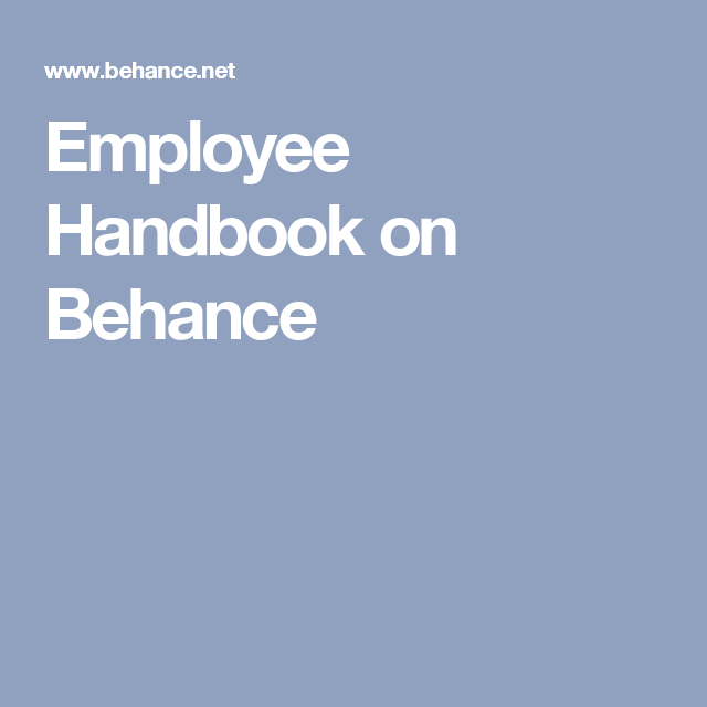 Employee Handbook On Behance  Kit    Employee Handbook
