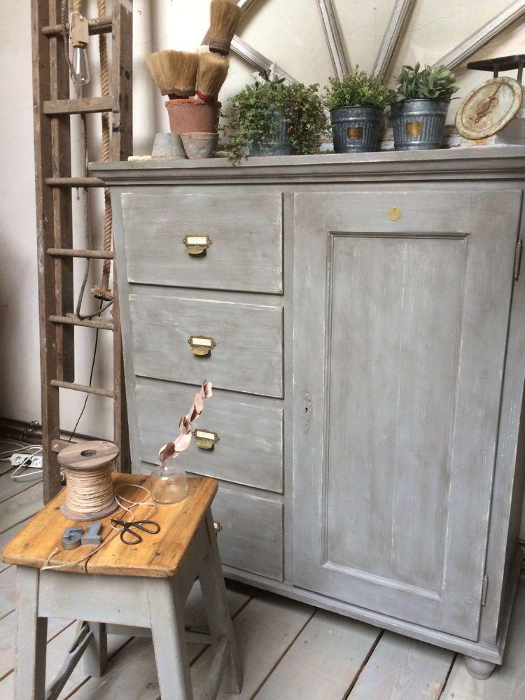 buffet haut a 4 tiroirs meuble de metier industriel meubles industriels pinterest. Black Bedroom Furniture Sets. Home Design Ideas