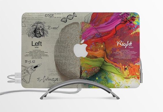 Macbook decal custom creative sticker computer decoration gift apple logo think