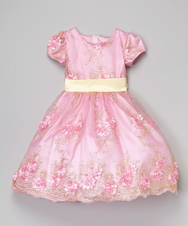 Look at this Kid Fashion Pink & Yellow Floral Dress - Infant, Toddler & Girls on #zulily today!