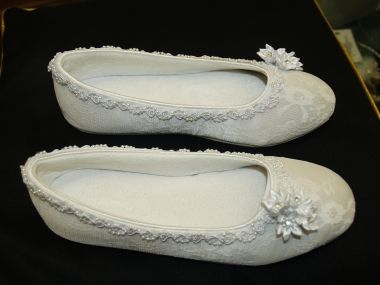 Flat Victorian White Shoes All Sizes 35 Off Recycled Bride