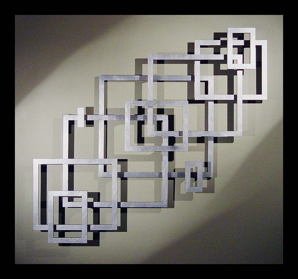 Modern Wall Frame Decor : Great layout inspiration for a geometric empty frame