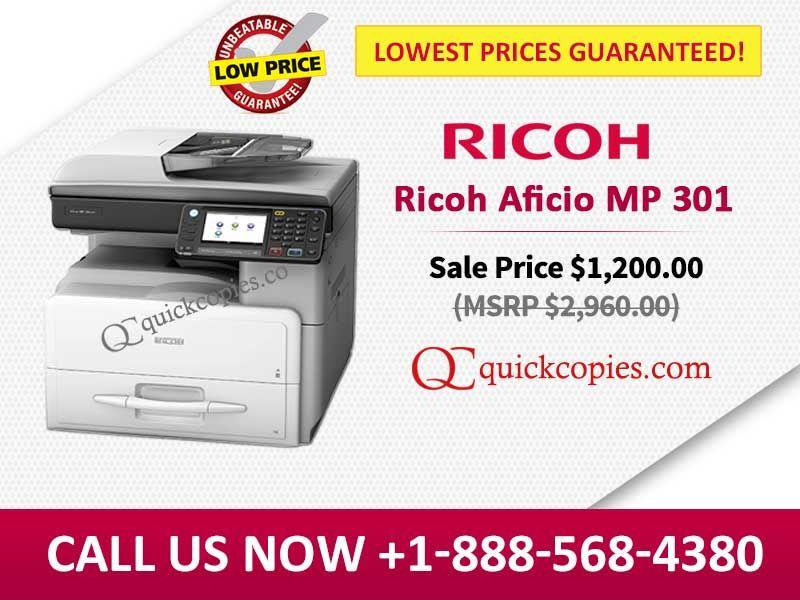 Buy Brand New Ricoh Aficio MP 301 Mono-Functional Copier