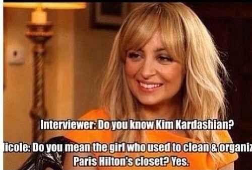 When she got Nicole Richie in on the shading: | 8 Times Paris Hilton Made Kim Kardashian Feel Like Crap