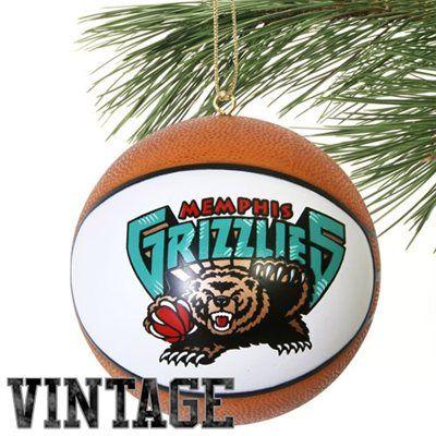 Memphis Grizzlies Replica Basketball Ornament