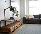 design Creative Create unit design modernCreate unit design Creative Create unit design modern Home office as a secondary tv room Dark walls leather sofa  leaning shelves...