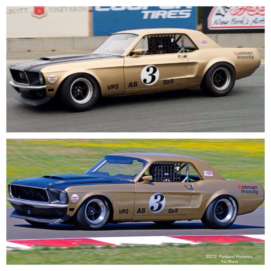 Holman moody built 3 road race 1968 mustang, each car had the same ...