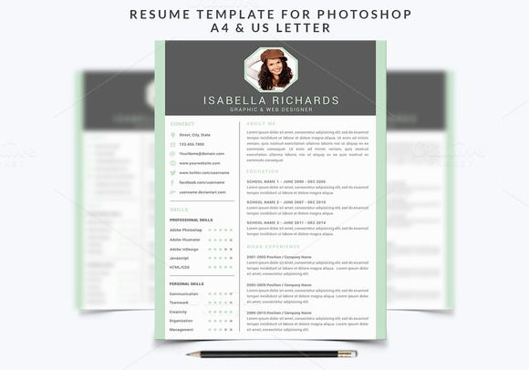 Resume Template 003 for Photoshop by@Graphicsauthor Resume CV - architecture resume
