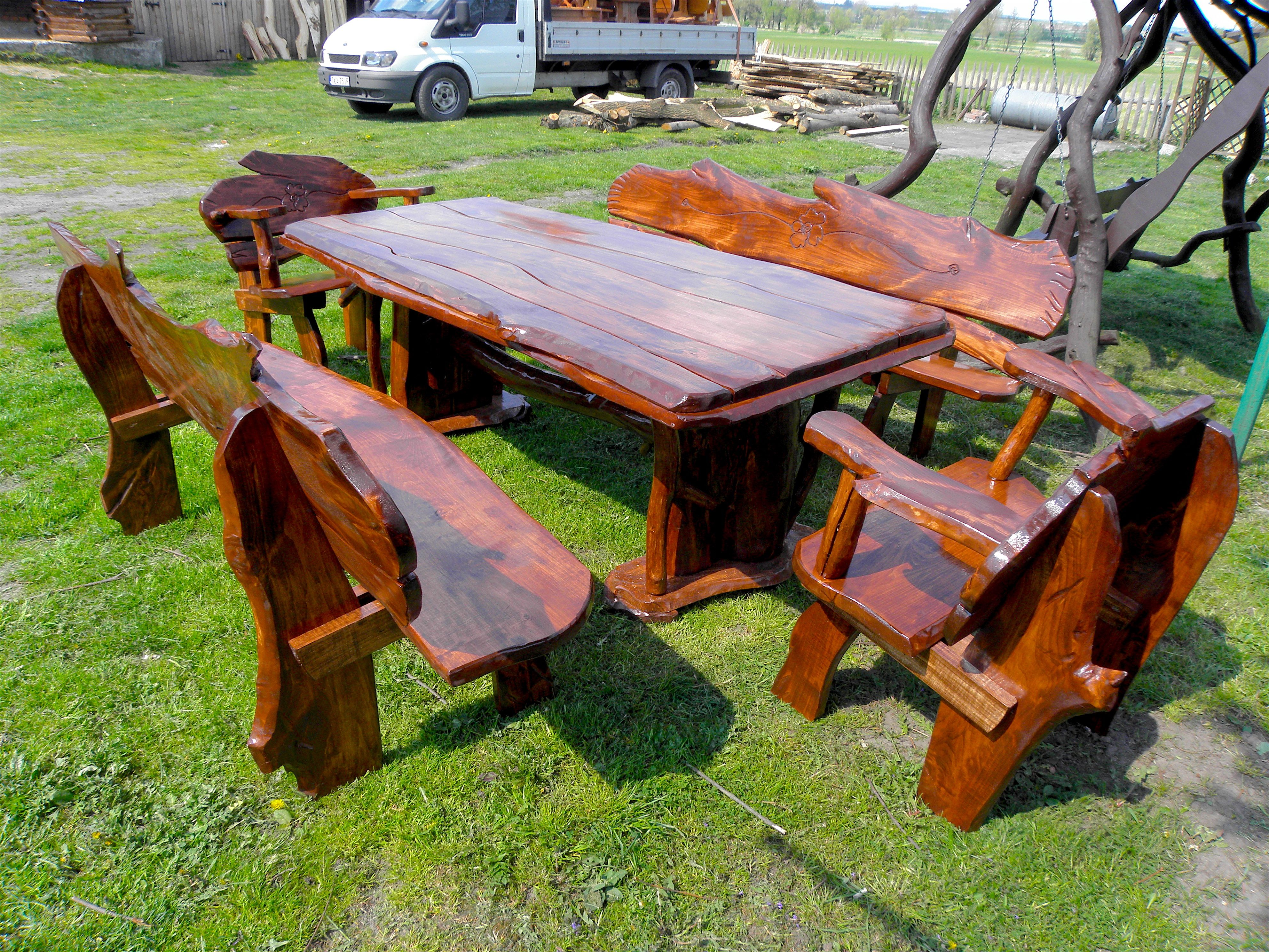 Meble Ogrodowe Z Drewna Olchowego Picnic Table Table Decor