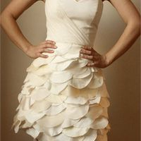 A-line Strapless Sweetheart Ruffled Skirt Knee Length Prom Dress PD1961 cuteee<3
