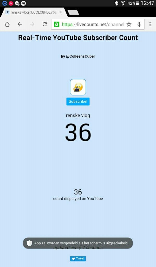 36 subscribers on renske vlog amazing thanks  p.s. subscribe and like mijn channel