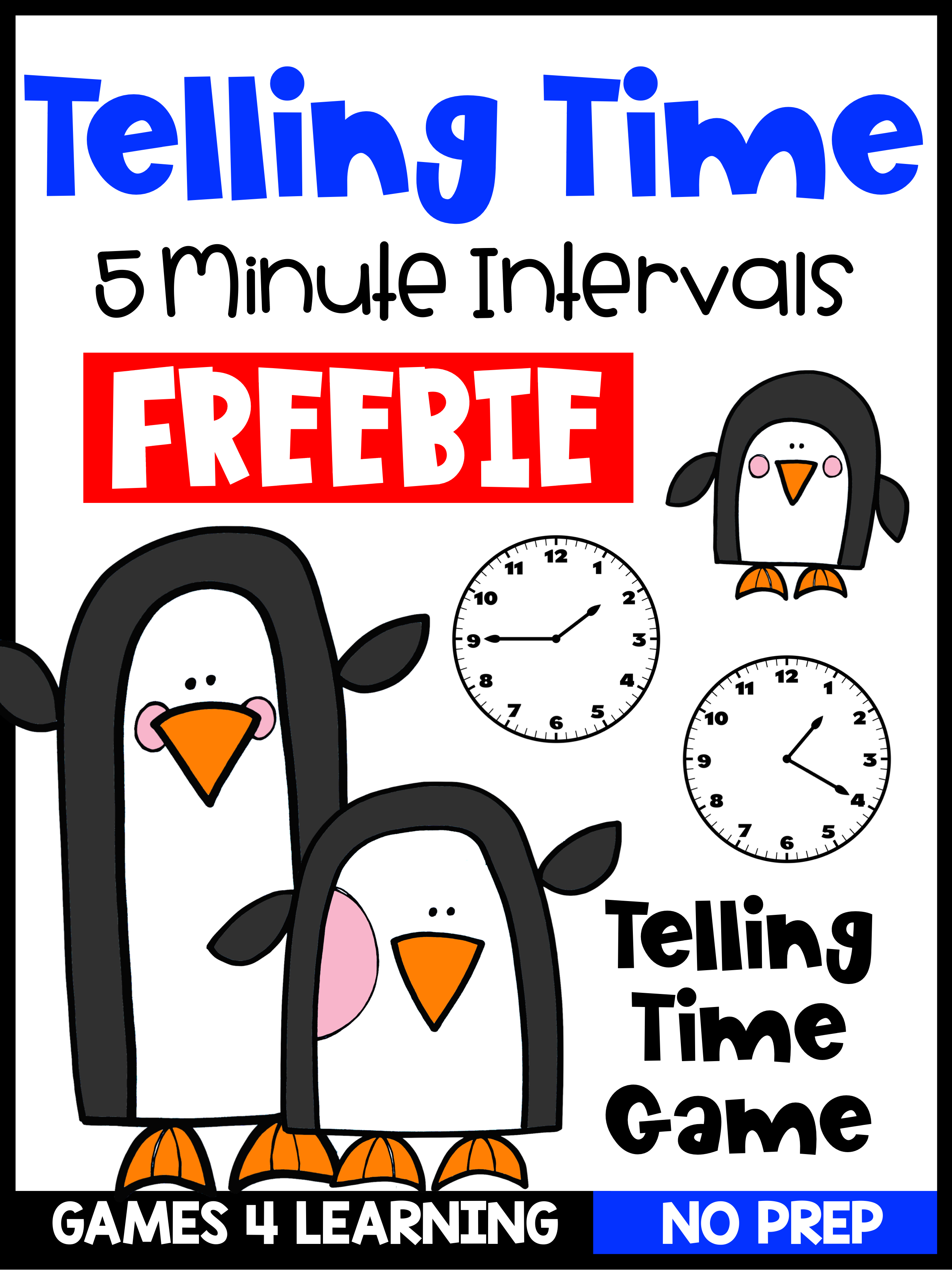 Free Telling Time To The Nearest 5 Minute Game