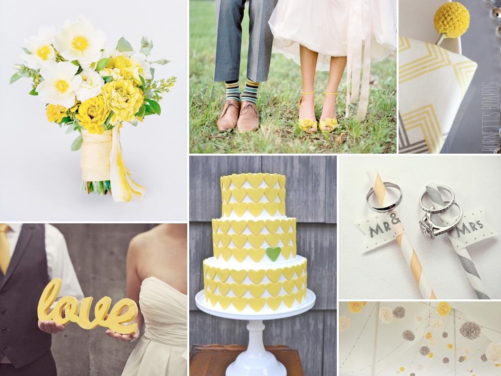 yellow and slate grey wedding inspiration
