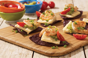 Lime-marinated shrimp and cheddar appetizer