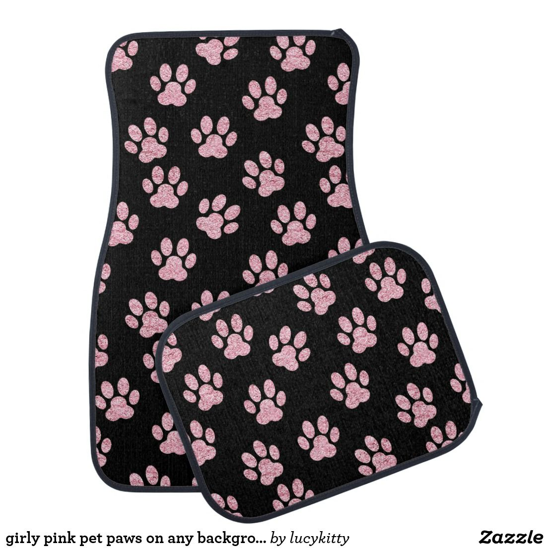 girly car floor mats bling car floor mats girly girly pink pet paws on any background color mat car floor mats