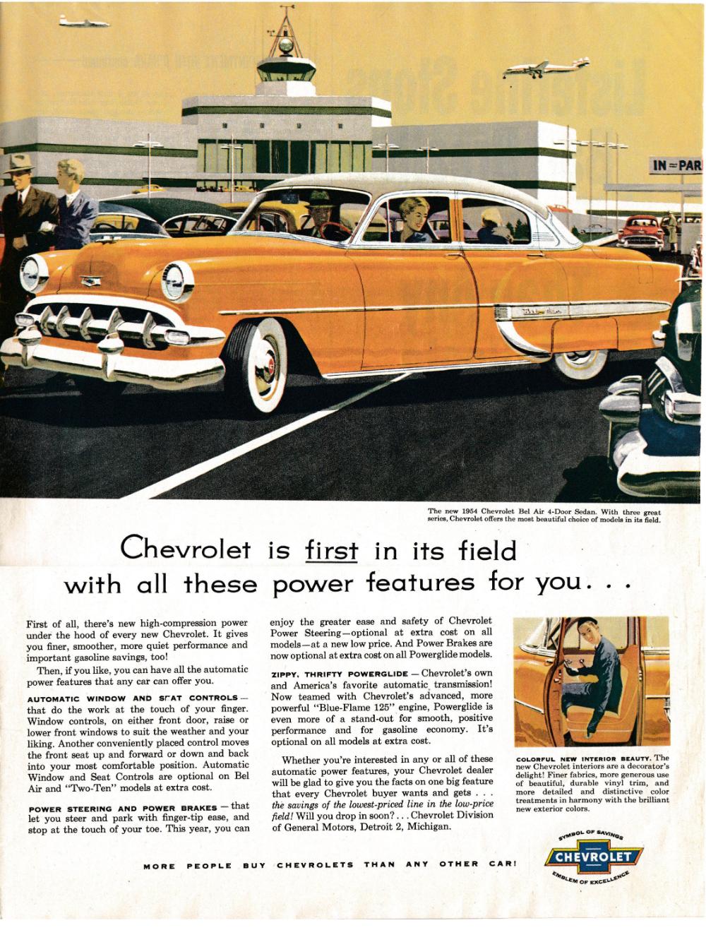 1954 Chevrolet Bel Air 4 Door Sedan Powerglide Original 13 5