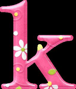 Bello Alfabeto Con Fondo Rosa Y Flores Blancas Letters Alphabet