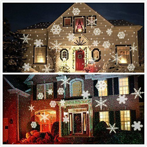 summitlink white snow shower laser christmas light show led projector - Led Projector Christmas Lights