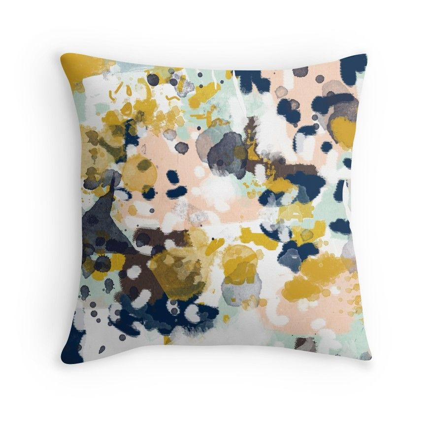 Sloane - abstract painting minimal gender neutral nursery home office dorm college art decor   Throw Pillow images