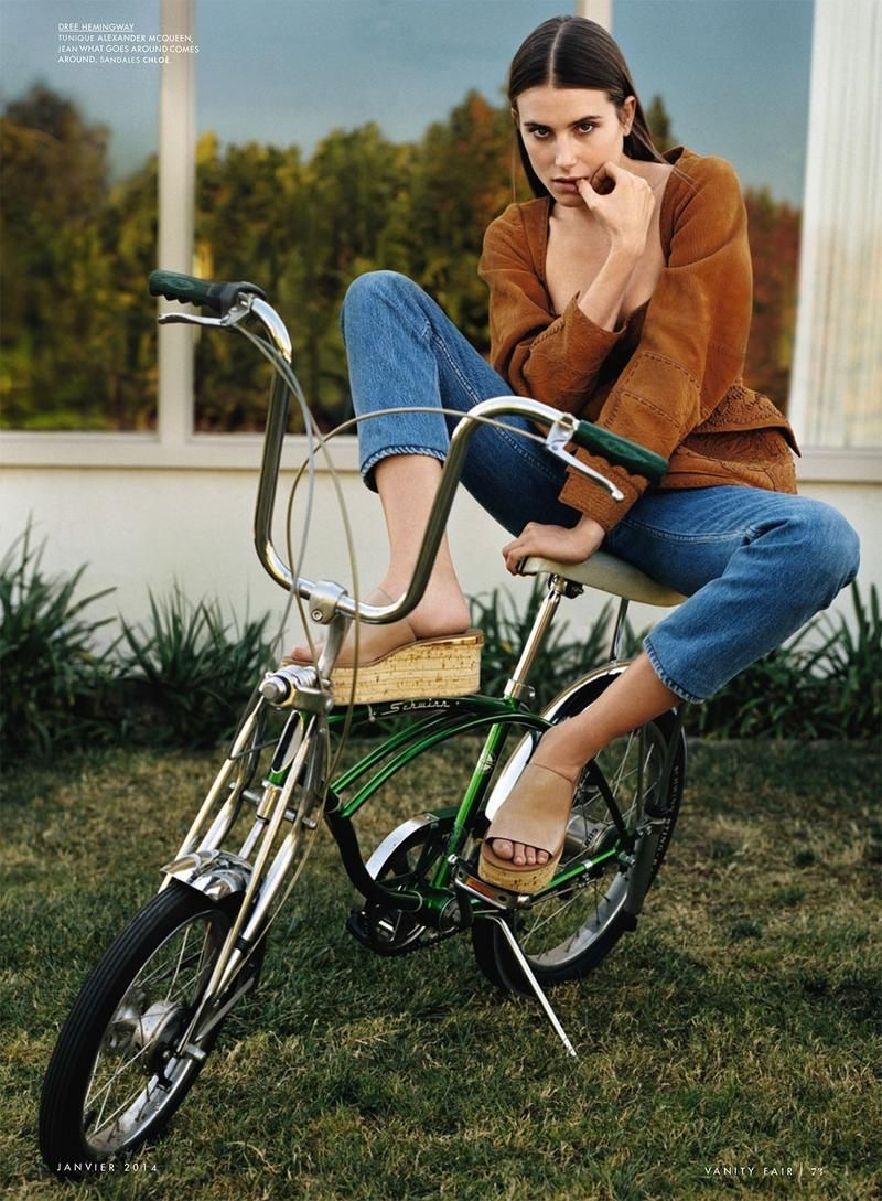 La Piste Aux Etoiles Vanity Fair France Bicycle Girl Bicycle Dree Hemingway