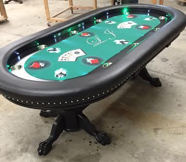 Custom Poker Tables Custom Poker Tables With Lights Custom Poker Tables Poker Table Pc Gaming Setup