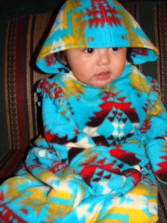 Baby Bunting  Canyon Turquoise by powwowbaby on Etsy, $49.00