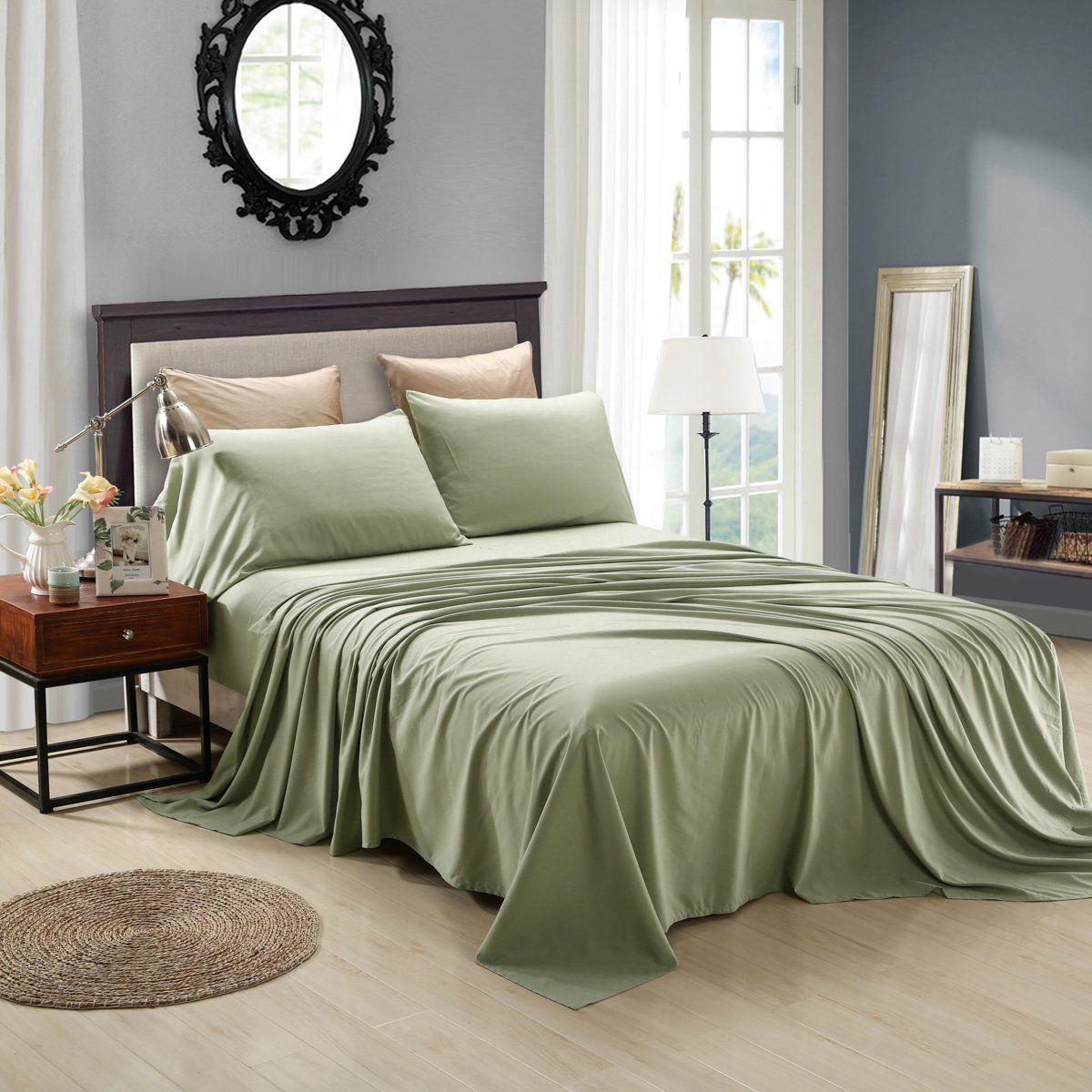 Superieur Honeymoon Extreme Soft 4PC Bed Sheet Set   Sage Green Sheet Set   $35.00