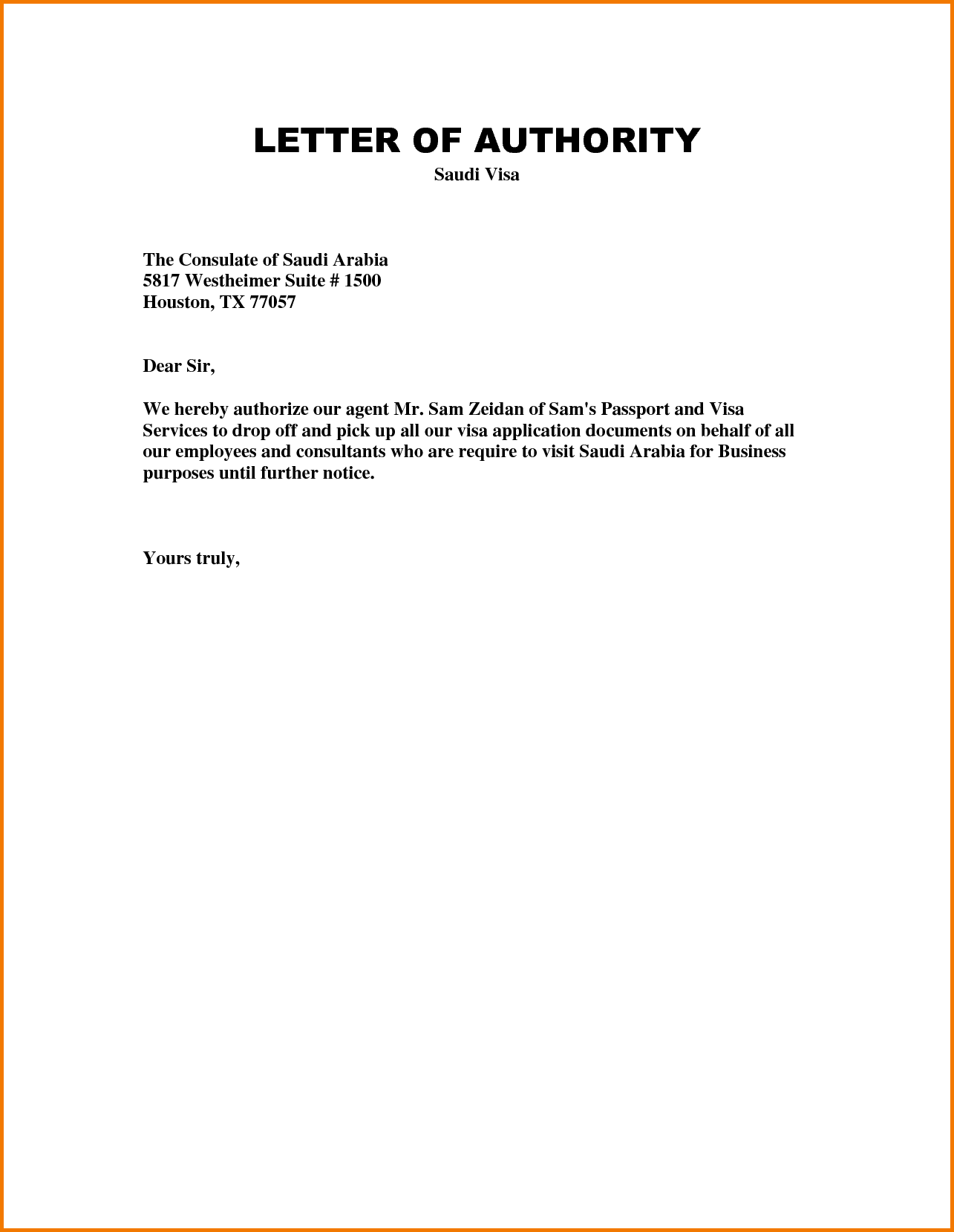 Authorization Letter Pick Passport Pdf Collect Sample Amp