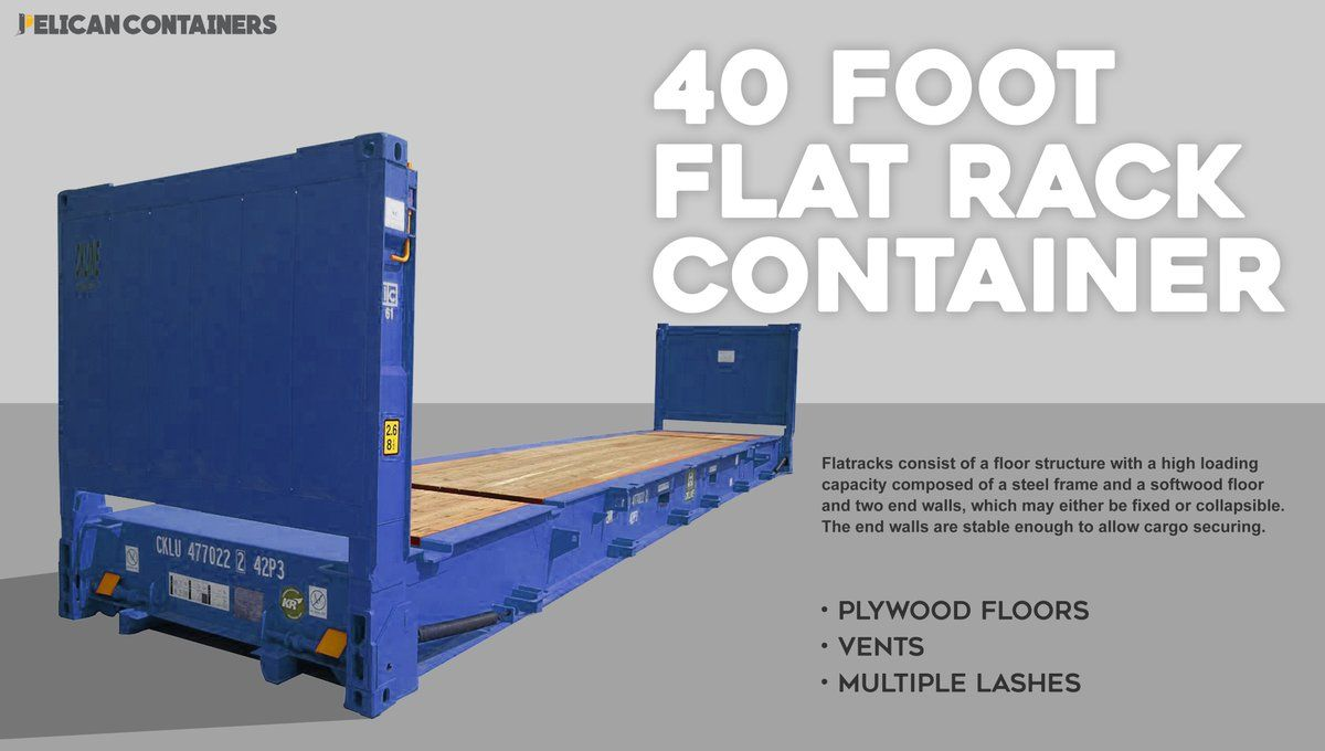 New And Used 40 Foot Flat Rack Container For Sale See Here Http Pelicancontainers Com Shipping Containers For Sale Containers For Sale Flat Rack Container