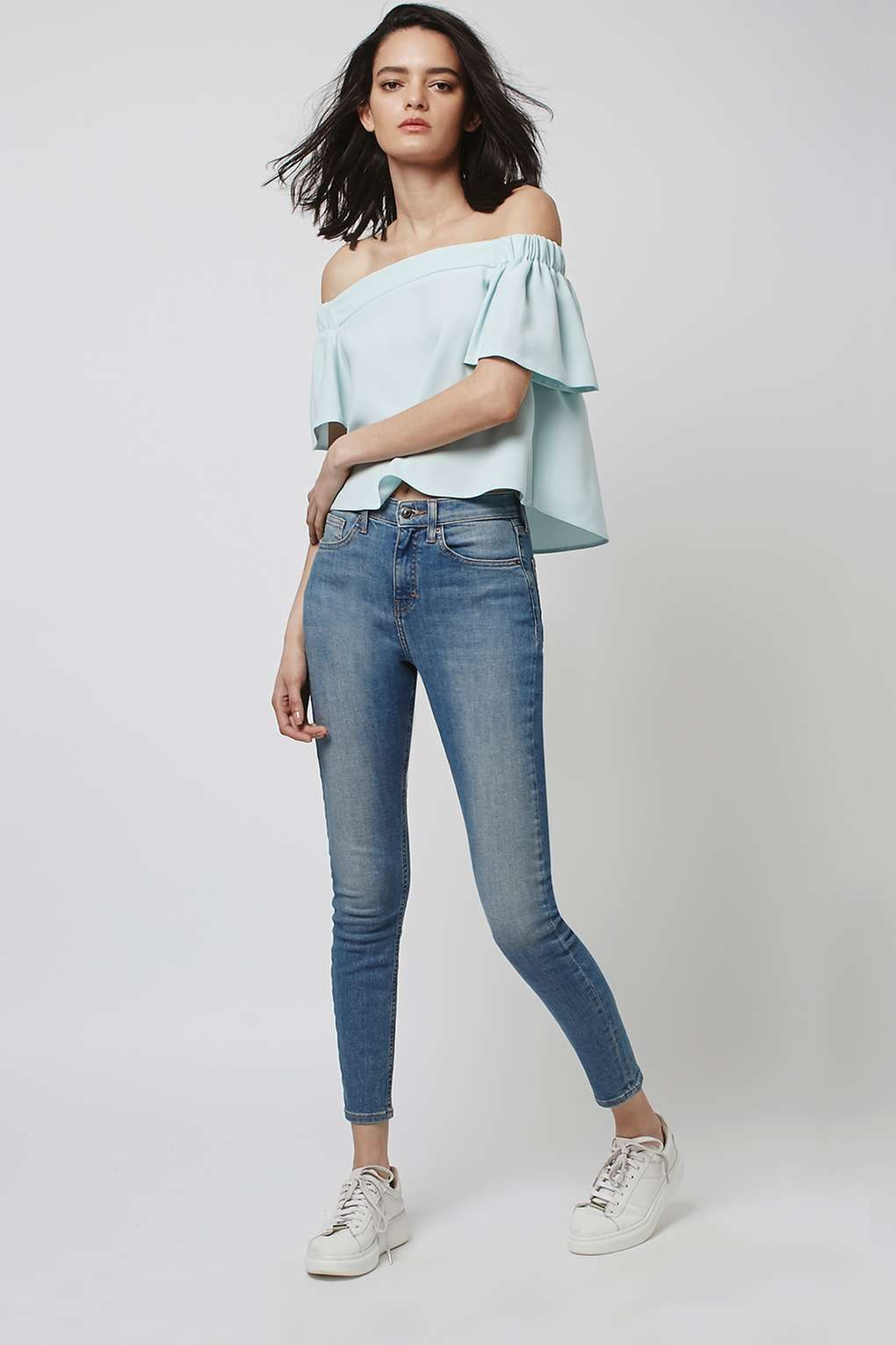 4b7c6022339aa Structured Bardot Top - Topshop