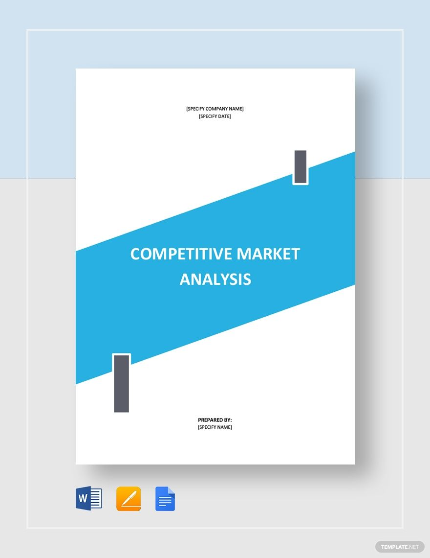 Competitive Market Analysis Template Free Pdf Google Docs Word Apple Pages Pdf Template Net Marketing Analysis Marketing Data Analysis
